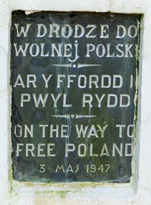 Gedenksteen voor de Polen in Penrhos, Noord-Wales. Foto Wikimedia Commons