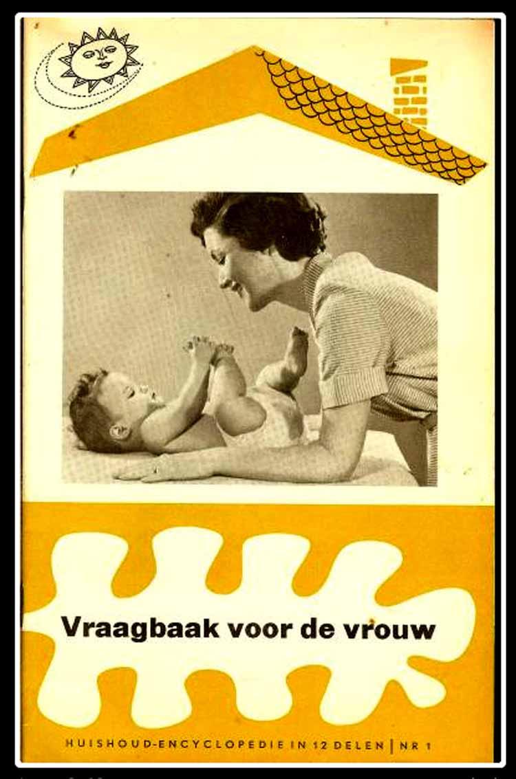 Vraagbaak voor de vrouw, een huishoudencyclopedie in twaalf delen uit 1960.