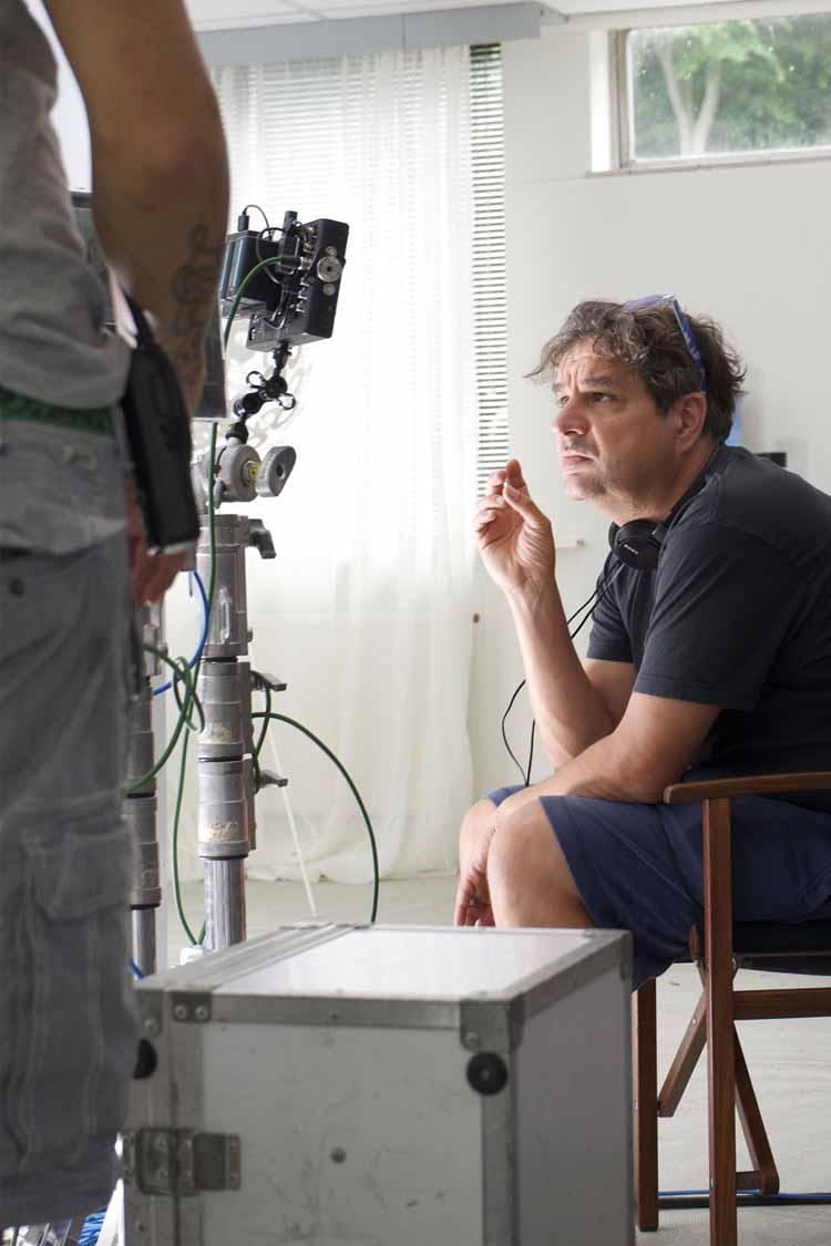 Frank Lammers op de filmset. foto Hildegard Hick – IJswater Films & Pellicola