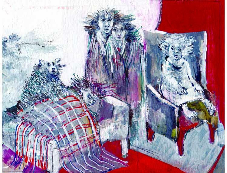 """Illustratie uit """"De dag dat Egeltje ziek werd"""". illustratie Greet op den Kamp"""