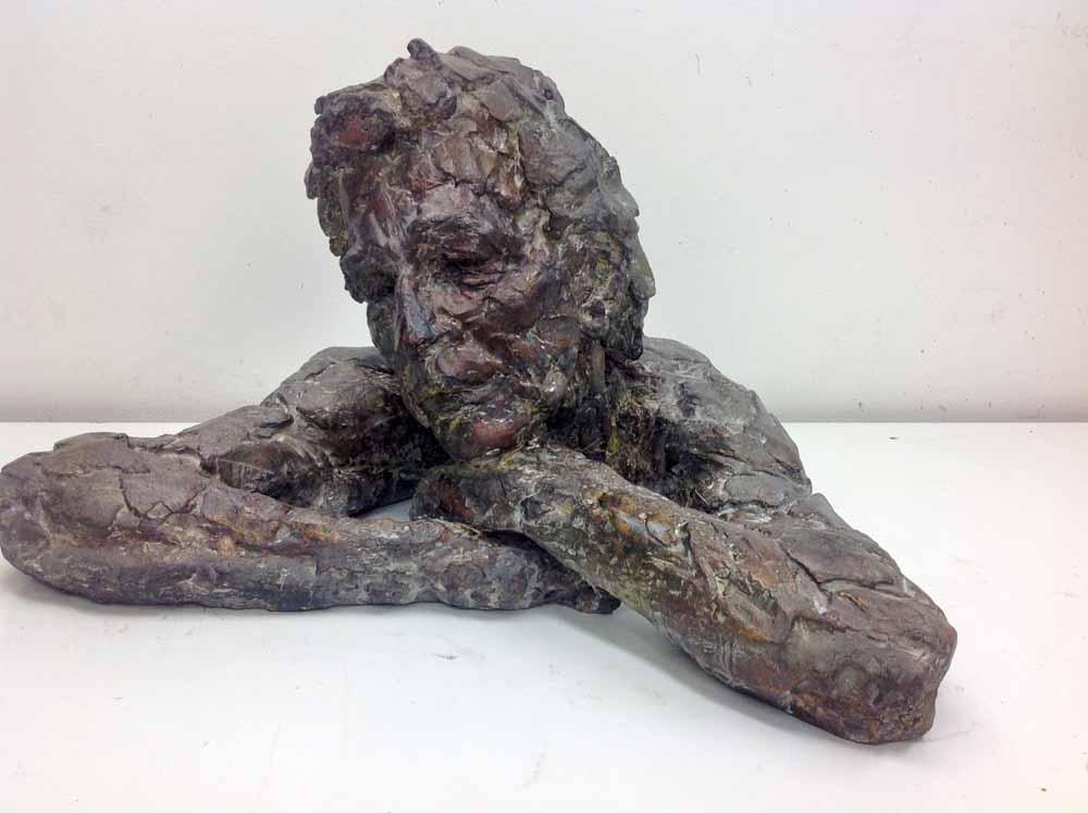 Ine van Lierop, buste man, brons