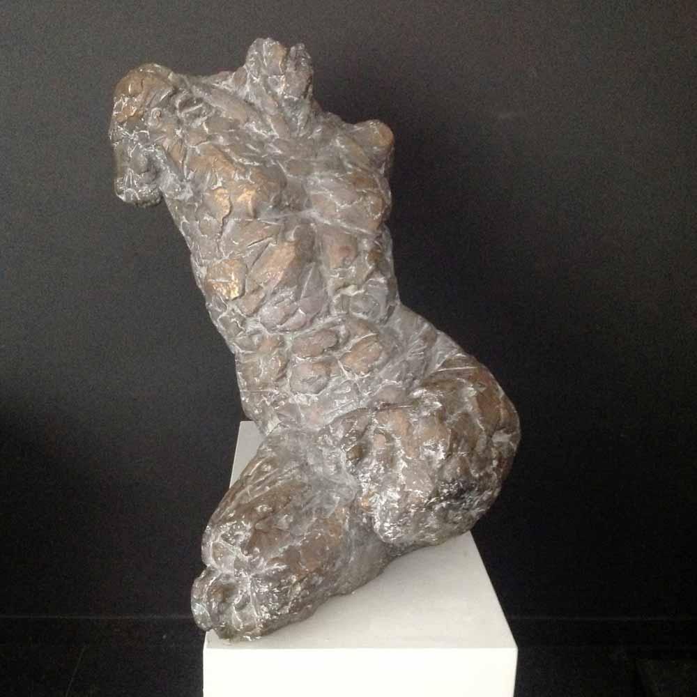 Ine van Lierop, torso man, brons