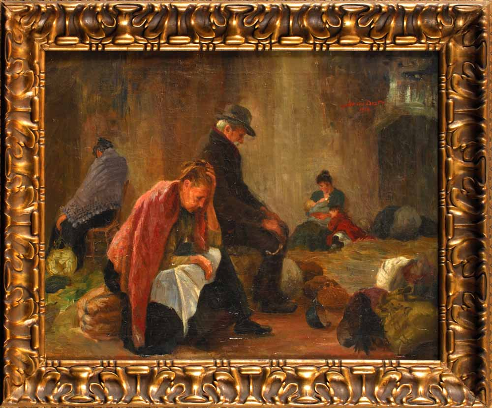 Belgische Vluchtelingen door Jan van Delft.