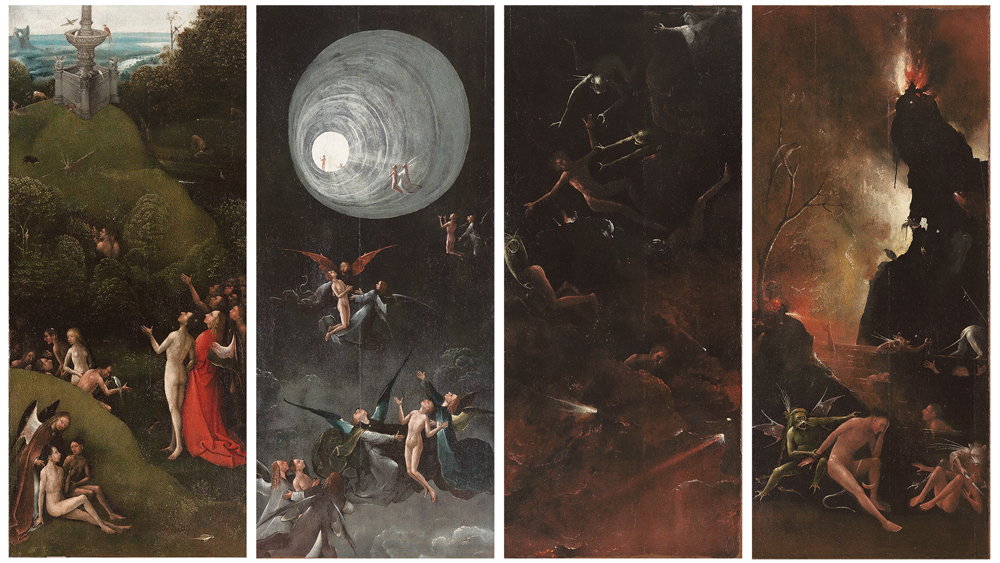 Jeroen Bosch, Visioenen van het hiernamaals (ca. 1505-1515) Museo di Palazzo Grimani, Venetië. Foto en beeldverwerking Rik Klein Gotink en Robert G. Erdmann (BRCP)