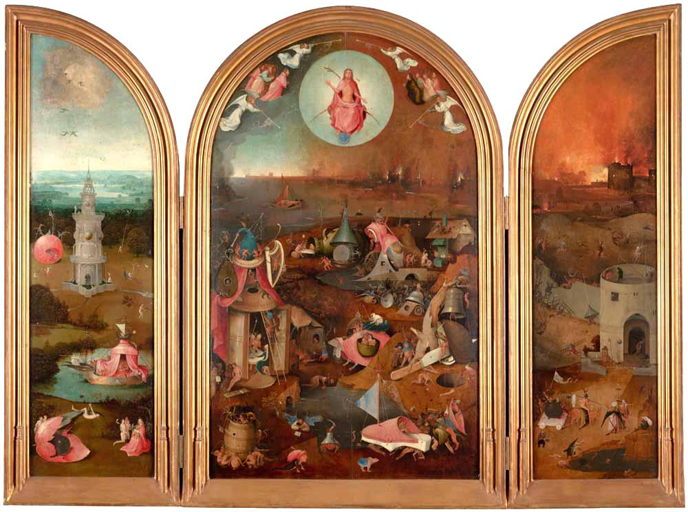 Jeroen Bosch, Het Laatste Oordeel (ca. 1495-1505) uit het Groeningemuseum in Brugge. Foto en beeldverwerking Rik Klein Gotink en Robert G. Erdmann (BRCP)