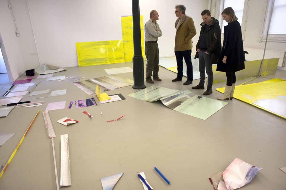Eerste dag van de tentoonstelling van Ton Boelhouwer. foto Piet den Blanken