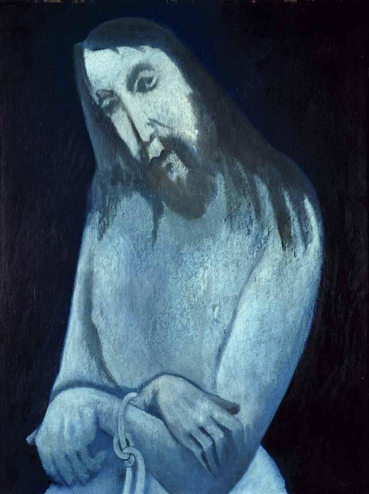 Hendrik Wiegersma, De gebonden Christus, olieverf op doek, 1951, collectie Museum De Wieger.