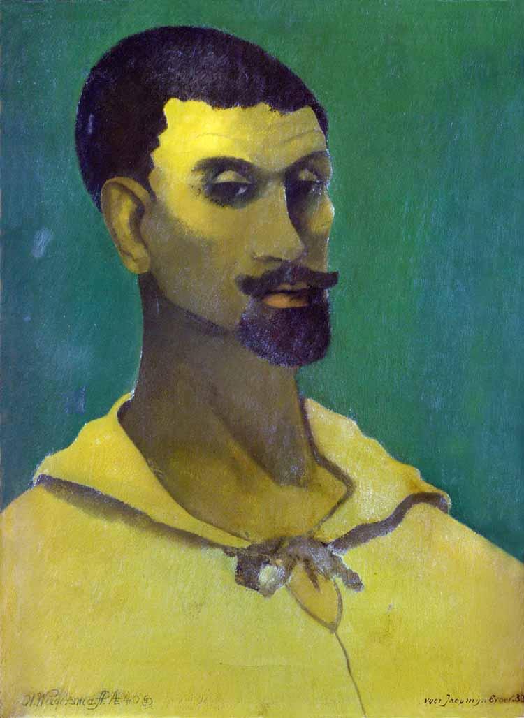 Hendrik Wiegersma, Zelfportret met gele blouse, olieverf op doek, 1933, collectie Museum De Wieger.