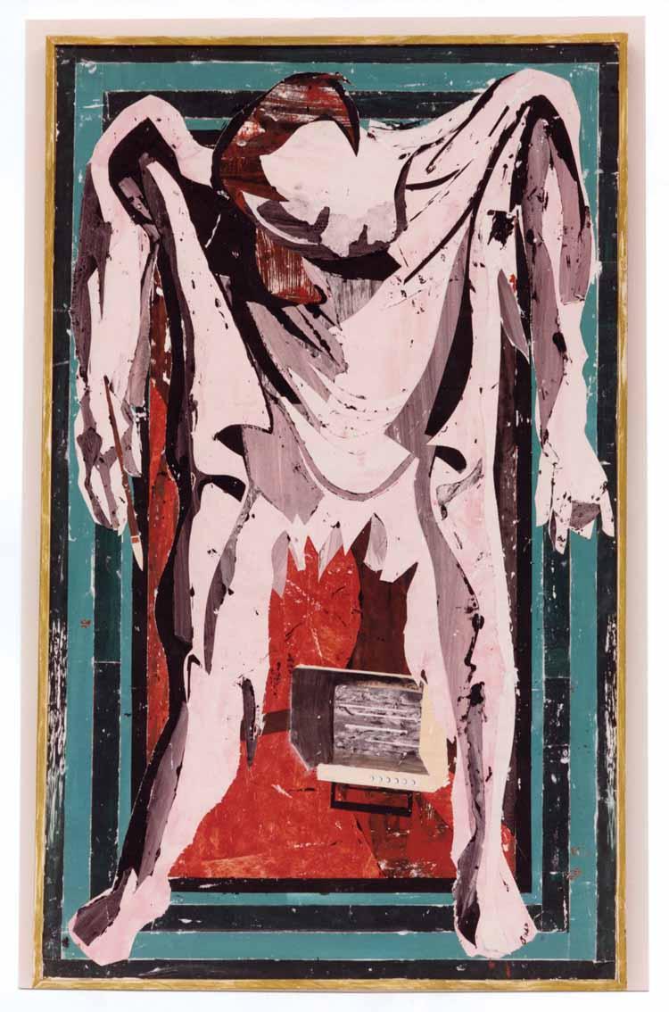 Jaap de Vries, De huid van de schilder, gemengde techniek, 1988, collectie Gemeente Breda.