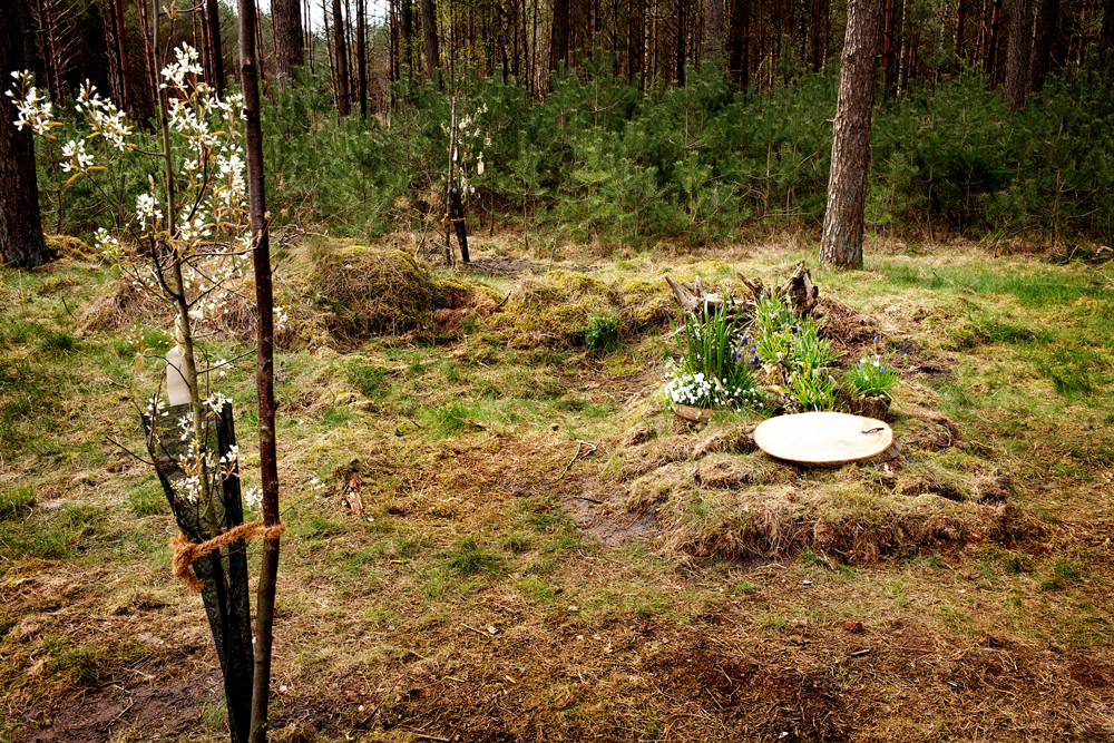 Een laatste rustplaats. De naam van de overledene is op verzoek onherkenbaar gemaakt. Foto Gemma van der Heyden