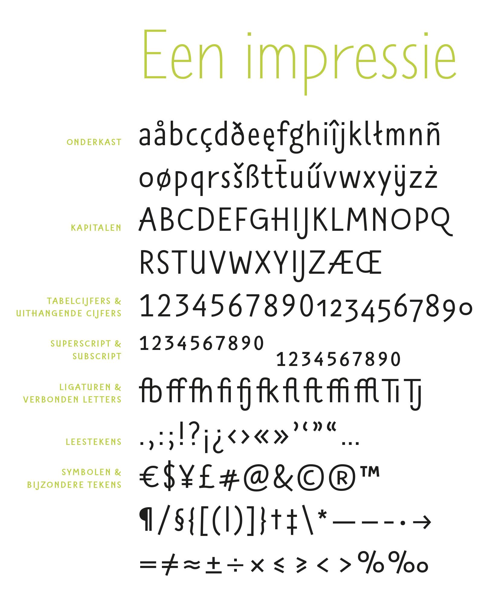 Het eigenzinnig lettertype TilbursAns, in de regular uitvoering, ontworpen door [typo]grafisch vormgever Sander Neijnens.