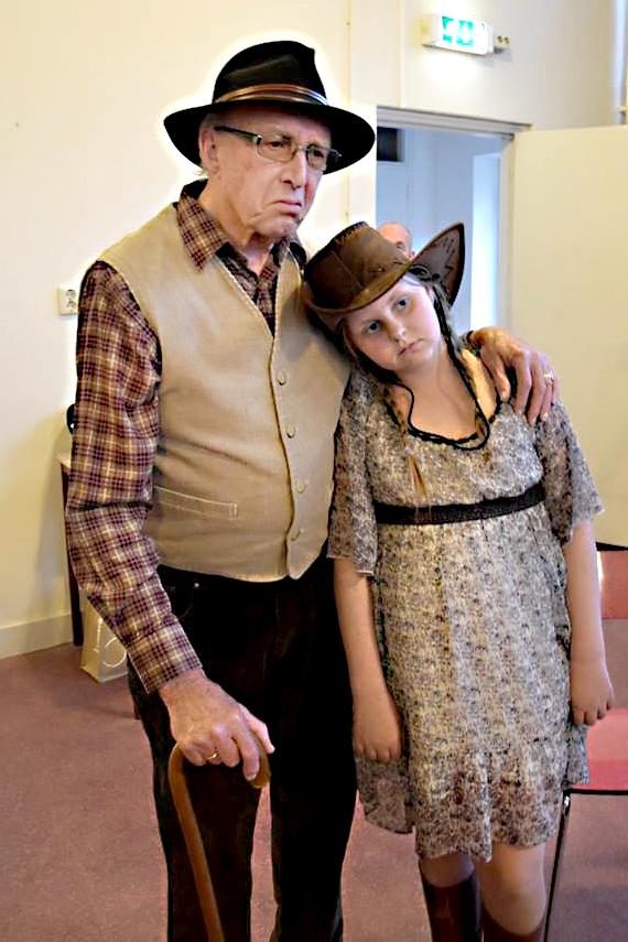 Opa en Candice. Foto Ad van Kessel