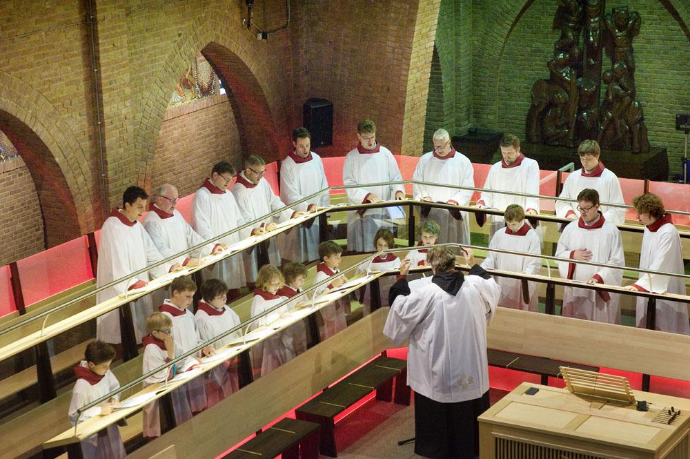 Repetitie van het Sacramentskoor. Foto Piet den Blanken