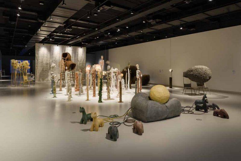 Overzicht expositie Nacho Carbonell in het Stedelijk Museum 's-Hertogenbosch. foto Peter Cox
