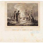 Soldaten bivakkeren op de Eerselse heide, 1831, getekend door H.P. Oosterhuis (Brabant-Collectie)