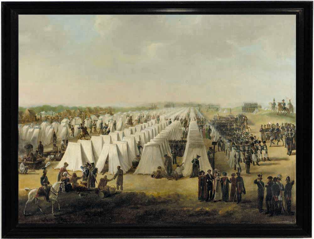 Het legerkamp in Rijen, Anoniem, 1831-1835 (Rijksmuseum)