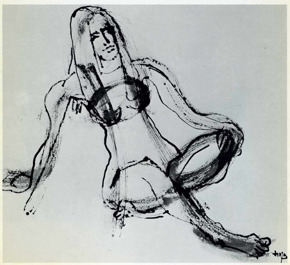 Een naaktstudie van Henri Ubink. Archief Jan Vinks.