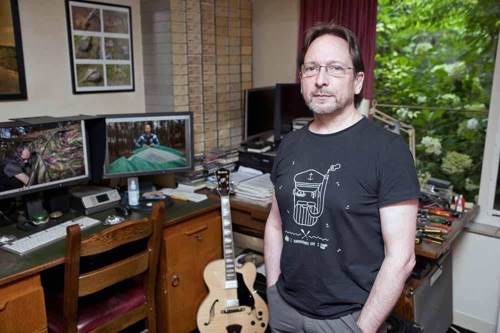De Bossche fotograaf Mike Harris. Foto Joep Eijkens.